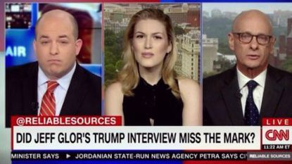 "Host Brian Stelter and guests Olivia Nuzzi and David Zurawik on ""Reliable Sources"" debating how best to do a TV interview with Donald Trump."
