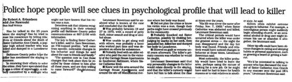 June 19, 1994: Police hope people will see clues in psychological profile that will lead to killer