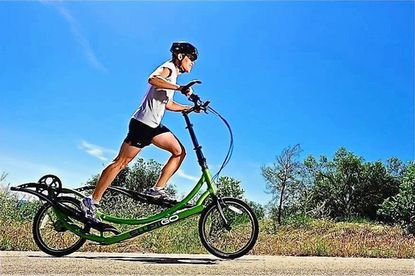 11-speed elliptical bike with ultra-light carbon fiber foot pedals.