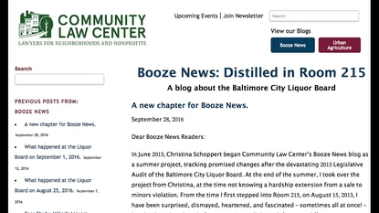 Booze News loses funding after Liquor Board meets with Abell Foundation, but participants say the two are not related