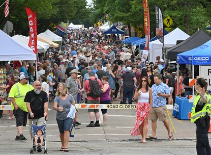 Thousands enjoyed Westminster's annual BBQ Stroll which is among the first big events in Carroll County post-pandemic, and featured 10 breweries, three distilleries, one winery and 16 food vendors, most dishing out barbecue to the many residents walking up and down Main Street.