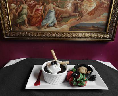 Chocolate dessert at Peter's Inn.