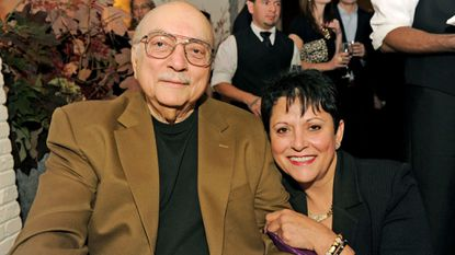 John Paterakis and his later wife Roula Passon at Wit & Wisdom's opening party in 2011.