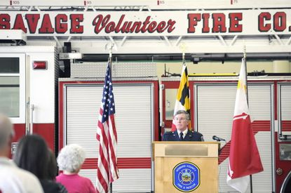 Outgoing Howard County Fire Chief Bill Goddard