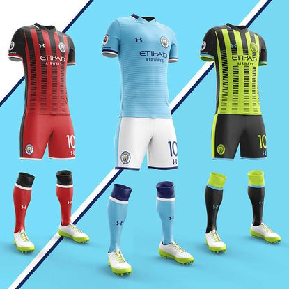 Kit artist Sebbulbla tweeted this speculative image of what Under Armour kits for Manchester City might look like amid rumors the Baltimore brand may be in line for a deal with Premier League leaders.