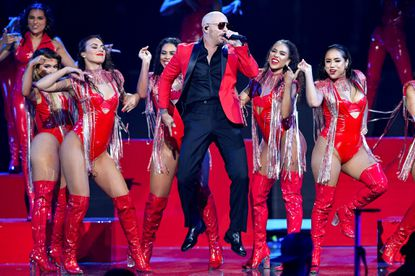 """Grab your tickets to the """"I Feel Good Tour"""" featuring Pitbull with special guest Iggy Azalea at Merriweather Post Pavilion. Ticket cost from $29.95 to $499.95. Patrons will have to show proof of COVID-19 vaccination. 10475 Little Patuxent Parkway, Columbia. merriweathermusic.com."""