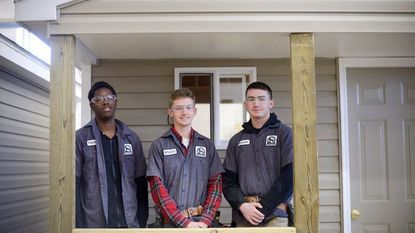 Tech Center students contribute shed to Habitat for Humanity homeowner