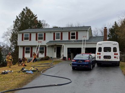 Crews from the Howard County Department of Fire and Rescue Services responded to the scene of a fire located at 8700 Hummingbird Court in Laurel around 8 a.m. Tuesday, Feb. 4, 2020.