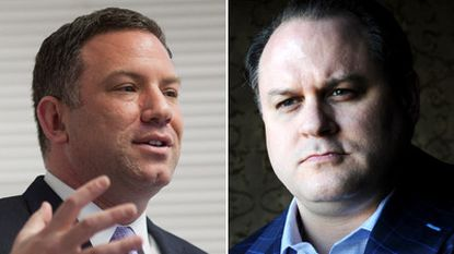 Howard County Executive Ken Ulman (left) donated $34,000 in campaign contributions he received from indicted insurance executive Jeffrey B. Cohen (right) to the Maryland Crime Victims Network and the United Way of Central Maryland.