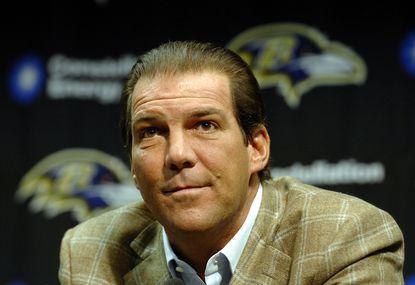 Ravens owner Steve Bisciotti at the team's season-ending news conference in 2007.
