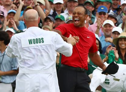 Who wasn't crying during Woods' emotional victory in the Masters?