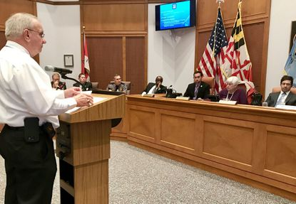 John Bender, vice president of the Aberdeen Fire Department, shared his concerns with the Aberdeen mayor and City Council on Monday about the potential negative impacts of a proposed city ordinance to remove a requirement that mobile homes be fitted with sprinklers to suppress fires.