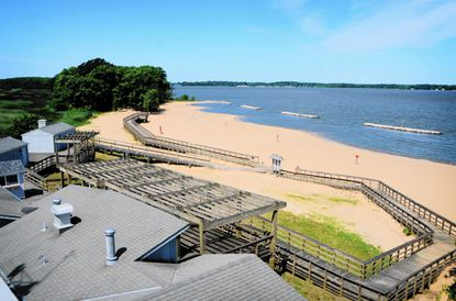 Created from harbor muck, new stretch of Hart-Miller Island open to public