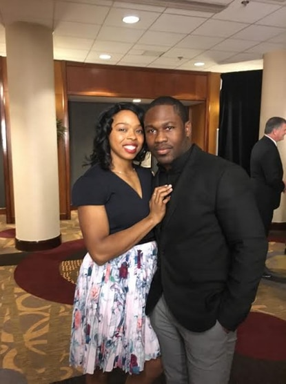 Ravens running back Justin Forsett and his wife, Angela, at the White House on Thursday.