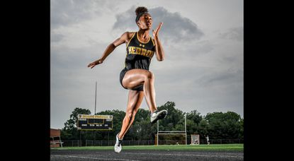 Mt. Hebron junior Tori Valentine is the 2019 outdoor track and field Athlete of the Year. Valentine won three gold medals at the Class 3A state championships.