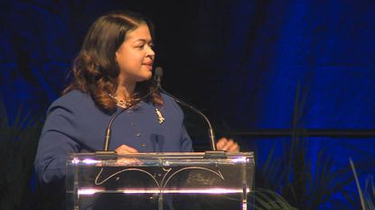 Baltimore County Interim Superintendent Verletta White gives the annual State of the Schools speech on March 20, 2019.