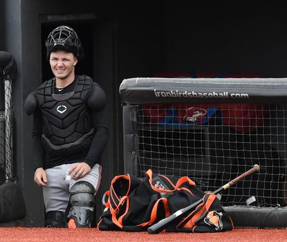 Aberdeen IronBirds catcher Maverick Handley hit his first home run in 2021 Tuesday night to help lead the team to its 10-1 win.