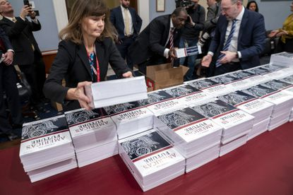 President Donald Trump's budget request for fiscal year 2021 arrives at the House Budget Committee on Capitol Hill in Washington on Feb. 10.