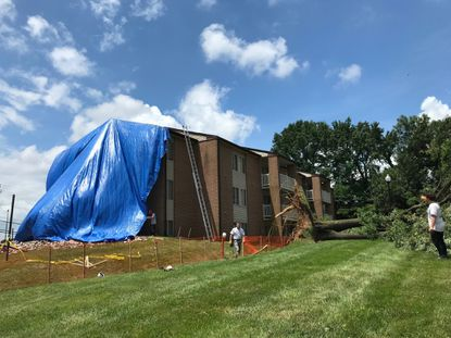 Storm causes partial wall collapse at Owings Mills apartment complex