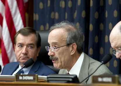 Rep. Eliot Engel, D-N.Y. speaks during a hearing on Iran before the House Foreign Affairs Committee at Capitol Hill on Oct. 11, 2017. Engel and Rep. Ed Royce, R-Calif., left, are among the Democrats who originally opposed the nuclear deal with Iran but now are urging the Trump administration to keep the accord intact.