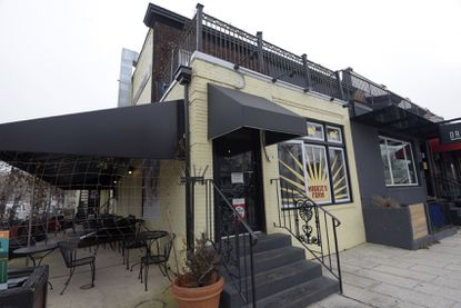 The exterior of Maggie's Farm, the Baltimore restaurant that was put up for sale earlier this week.