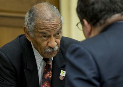 Rep. John Conyers Jr. (D-Mich.) is pictured at a House Judiciary subcommittee hearing on Capitol Hill in Washington.