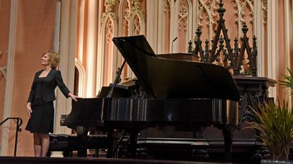 """Lura Johnson performs during the 2nd Annual Piano Marathon Concert, presented by the """"Spire Series"""" at the First & Franklin Presbyterian Church on Sunday afternoon. Johnson is a Steinway artist and the principal pianist of Delaware Symphony and Baltimore Symphony orchestras."""