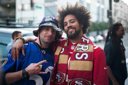 Ravens fans in San Francisco converge at Thieves Tavern on game days. They even play nicely with 49ers fans.
