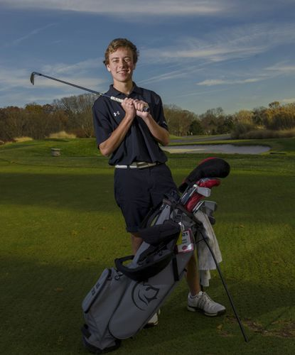 Glenelg's Caleb Taylor finished in the top four in all three postseason tournaments this fall, including a victory at the county tournament, on the way to being named Howard County boys Golfer of the Year.