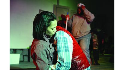 """Mari Travis as Emily (left) and Martique Smith as Tripp in """"The King of Howards Street"""""""
