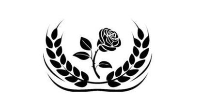 "University of Maryland Professor Jerome Segal is attempting to start a new ""socialistic"" party called Bread and Roses. This is its emblem."