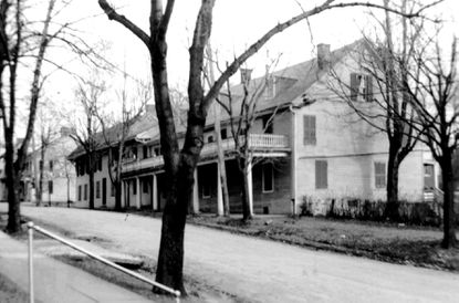 The Dielman Inn (also called Dielman's Hotel) was located one block from the New Windsor Bank.