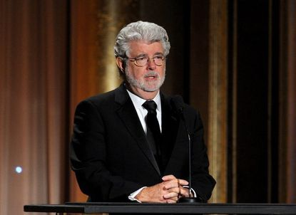 George Lucas, shown recently at the AMPAS Governors Awards, has hit a bump in his quest to build an art museum at the Presidio in San Francisco.