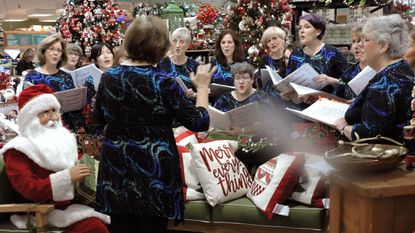 The Chesapeake Harmony Chorus' performance of Bing Crosby's 'White Christmas' captured Santa's ear during the ninth edition of the Greater Severna Park and Arnold Chamber of Commerce's Taste & Sip.