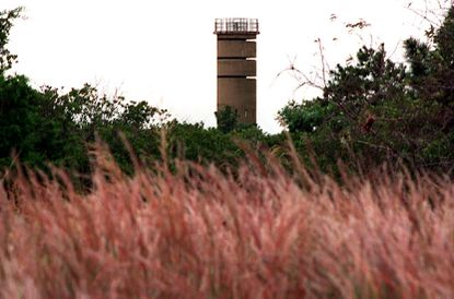 Cape Henlopen State Park in Lewes, Delaware features a Fire Control Tower -- built as part of a plan to defend the Deleware shore against the potential of assault by the Germans.