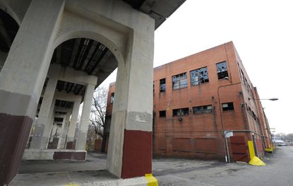 Baltimore,MD -- 1760 Union Avenue is one of the possible devlopment sites in Hampden. The Jones Falls Valley is poised for further transformation as Hedwin and Pepsi prepare to relocate and developers eye conversion of another long vacant site.