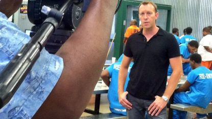 Adam May covering a story in a New Orleans prison during his time with Al Jazeera America. The current WBAL-TV anchor and reporter announced Wednesday that he's leaving TV and Baltimore.