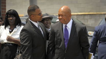 U.S. Rep. Elijah Cummings at the June 2011 funeral in Baltimore for his nephew Christopher Cummings, who was shot to death in a rented house near Old Dominion University in Norfolk, Va.