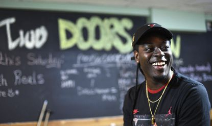 Carroll County rapper Michael Yeboah, known as Da Kid Emm, filmed a video at the Manchester fire company as well as the Two Doors Down cocktail lounge at Spargos on Main Street in Manchester.