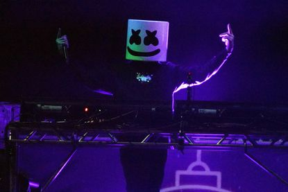 Marshmello performs duringthe 2019 B96 Jingle Bash at the Allstate Arena onDec.7, 2019, in Chicago, Ill.