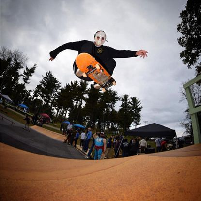 """Jake Rupp caught air at Manchester Skate Park's first Halloween Havoc Skateboarding, Art and Music Festival last year. This year's event will go from noon until """"moon"""" on Sunday, Oct. 27."""