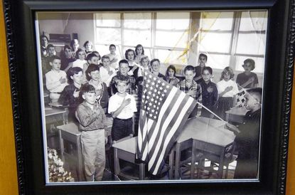 An old photograph donated by a Shady Side resident shows a class of all white students.