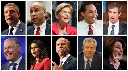 Ten presidential candidates are participating in the Wednesday Democratic debate in Miami at the Adrienne Arsht Center for the Performing Arts. Ten more will participate on Thursday.