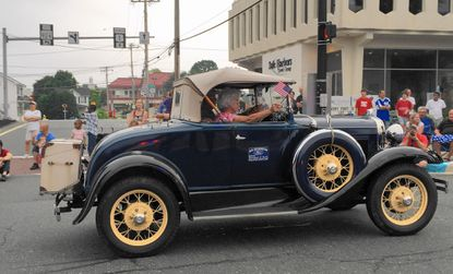Elmer and Kathleen Smith's 1931 Ford Roadster was judged the best antique vehicle in the Bel Air July 4 Parade.