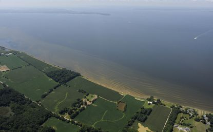 An aerial view of the Chesapeake Bay.