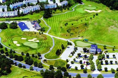 An aerial shot of the Fairway Hills golf course.
