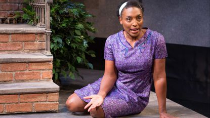 """Dawn Ursula in the 2015 Theatre J production of """"Queens Girl in the World"""" by Caleen Sinnette Jennings."""