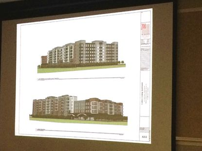 Rendering of proposed Canton apartment complex