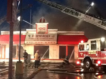 A fire broke out overnight at Hip Hop Fish & Chicken