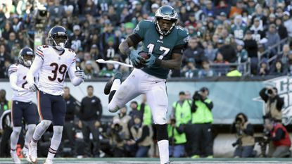 Alshon Jeffery had five catches for 52 yards and this TD in last season's win over the Bears.